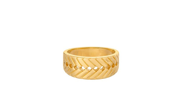 Genéve Ring Gold Plated Silver