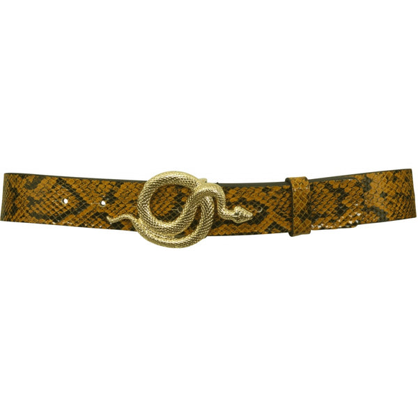 Milo Leather Snake Belt Autumn Snake