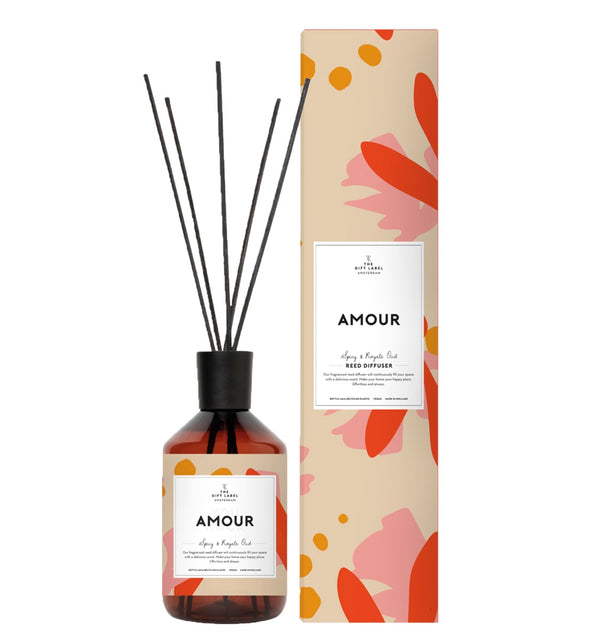 The Gift Label Amour Reed Diffuser Spicy And Royal Oud