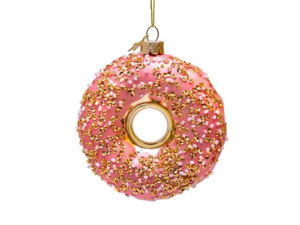 Vondels Glas Ornament Orange Donut