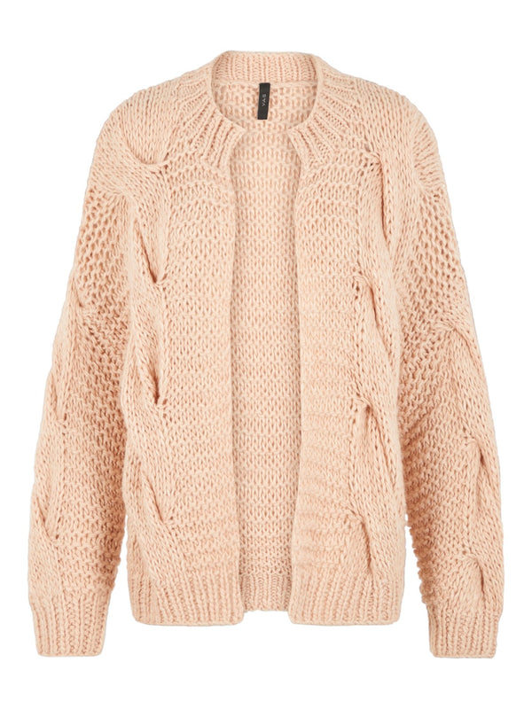 YAS Carly Hand Strik Cardigan Rose Dust