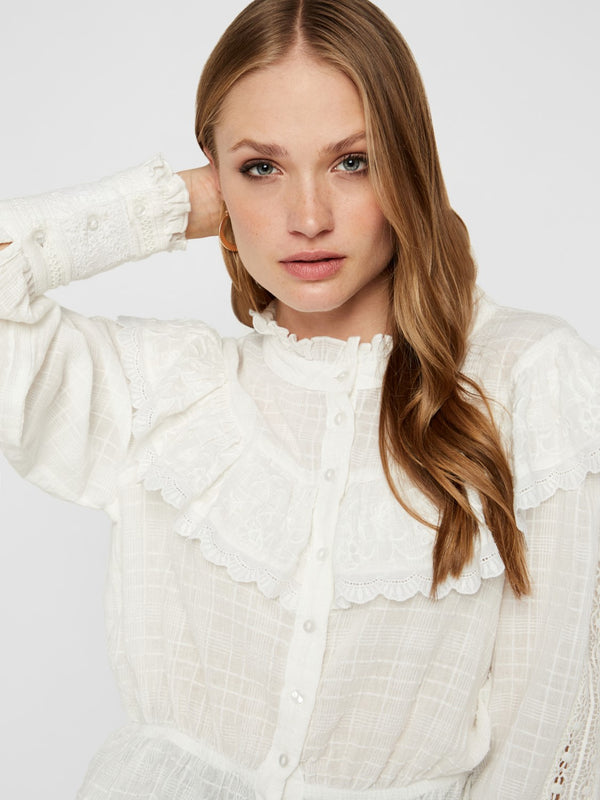 YAS Luxa Bluse White