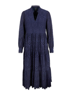 Yasholi Long Sleeved Kjole Evening Blue