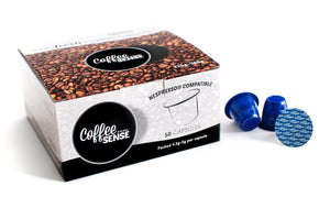 Nespresso Compatible Dark Italian Coffee Pods box of 50