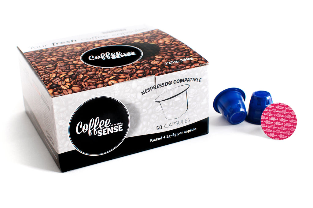 Organic Decaffeinated Nespresso Compatible Coffee pods Box of 50