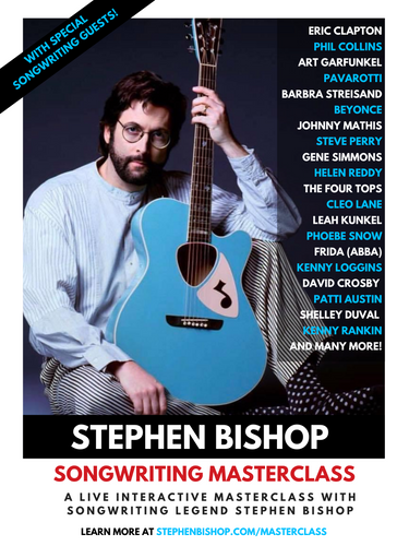 Stephen Bishop Master Class (Sunday December, 6th, 2020 - 2pm PST)