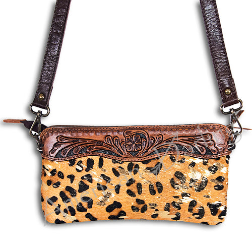 American Darling - Purse- Hair On Cheetah Small Purse