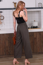 Load image into Gallery viewer, Loose Fit Elastic Waistband Wide Leg Pants - Green