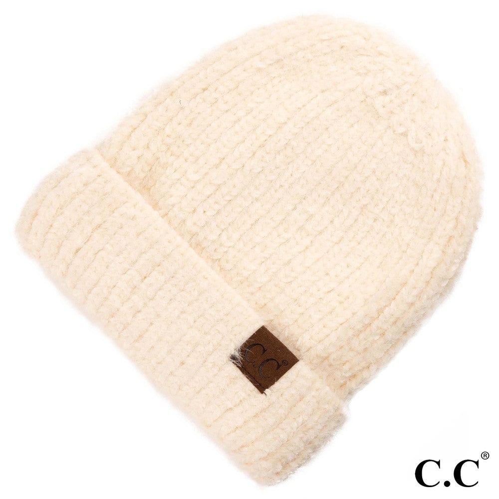 Adult Beanie Chenille  - Ivory