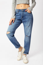 Load image into Gallery viewer, High Rise Mom Jeans with Holes- KanCan