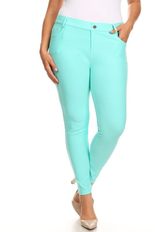 Jeggings - Regular Length - Turquoise