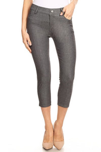 Capri Jeggings - Grey