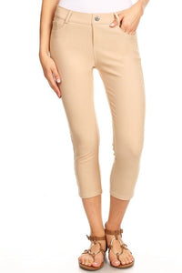 Capri Jeggings - Camel