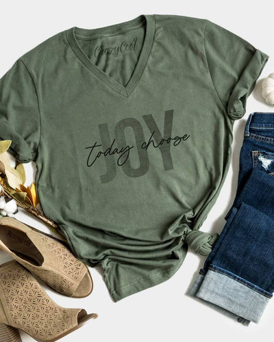 Today Choose Joy Tee - OLIVE