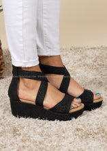 Load image into Gallery viewer, Fay - Black Leopard Platform Wedge