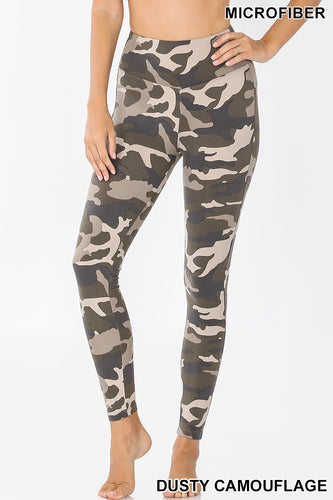 Microfiber Camouflage Leggings -Dusty Camo