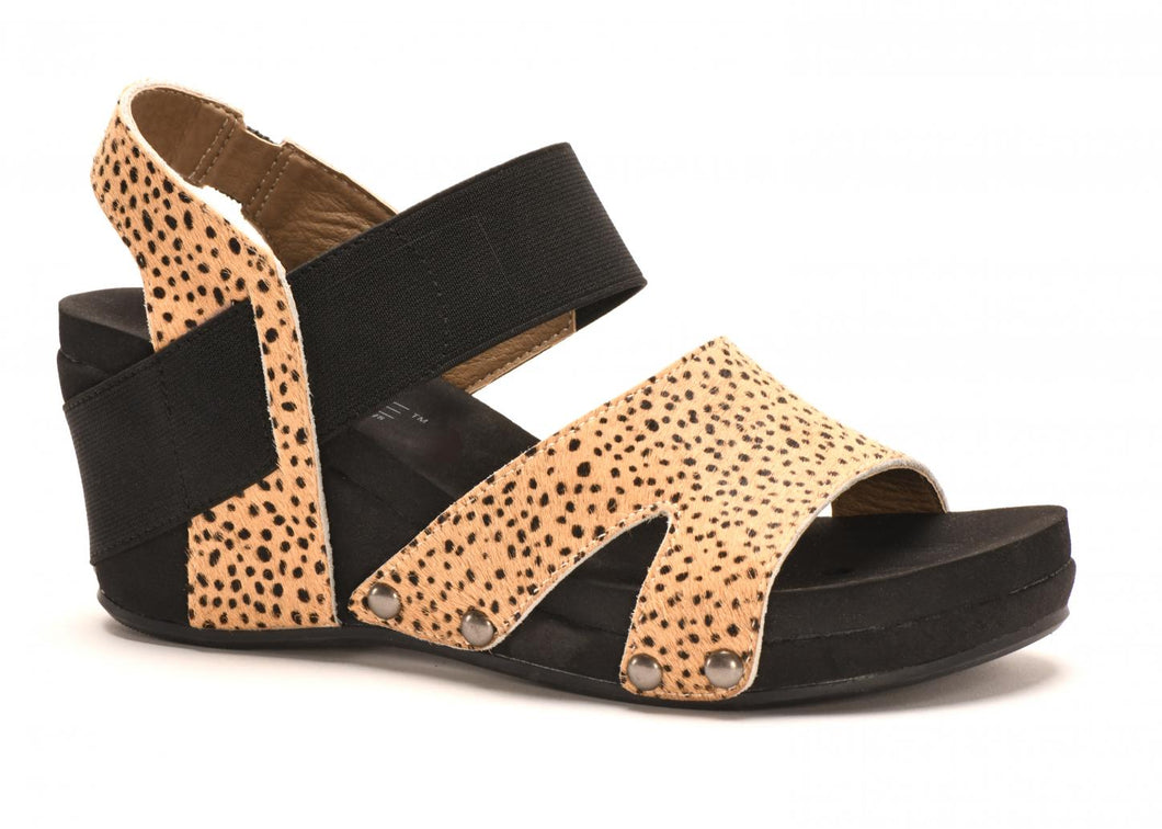 Newton - Black with Brown and Tan Speckled Cheetah Print