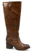 Load image into Gallery viewer, Amber Distressed Tall Boot - SUPREME WIDE CALF