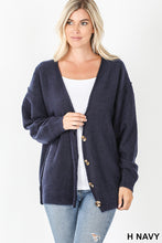 Load image into Gallery viewer, Oversized Brushed Melange Sweater - Heathered Navy