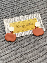 Load image into Gallery viewer, Emilia Alice Designs - Clay Earrings - Pumpkins on a Silver Stud