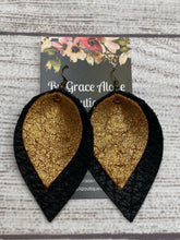 Load image into Gallery viewer, Double Stack - Black with Gold Glitter