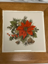 Load image into Gallery viewer, Handmade Cherry Trivet - Poinsetta