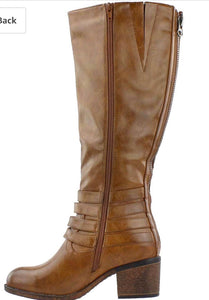 Amber Distressed Tall Boot - SUPREME WIDE CALF