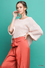 Load image into Gallery viewer, Light Pink High Low Waffle Knit Top