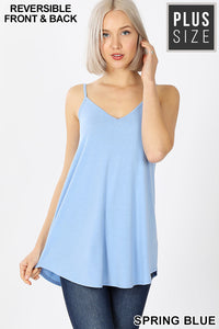 V-Neck or Scoop Reversible Cami- Spring Blue
