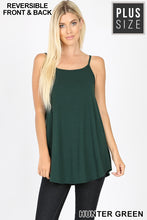 Load image into Gallery viewer, Hunter Green V-Neck or Scoop Neck Reversible Cami