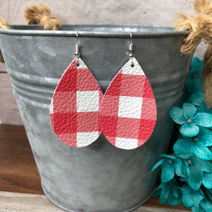 Red & White Buffalo Plaid