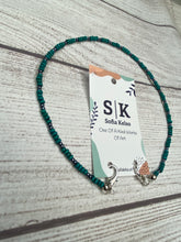 Load image into Gallery viewer, Handmade Beaded Mask or Eyeglass Chain - Turquoise & Silver