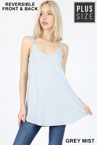 Grey Mist V-Neck or Scoop Neck Reversible Cami