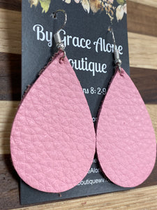 BGA Gems - Pebbled Pink Tear Drops