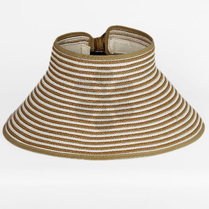 Striped Straw Sun Visor