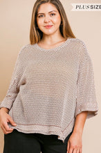Load image into Gallery viewer, Mocha High Low Waffle Knit Top