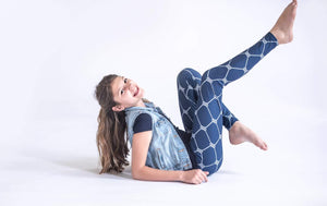 Regular Length- Soft Nautical Navy Leggings - Charlie's Project