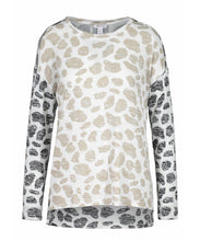 Load image into Gallery viewer, Tribal - Long Sleeve Light Weight Brown & Cashew Animal Print