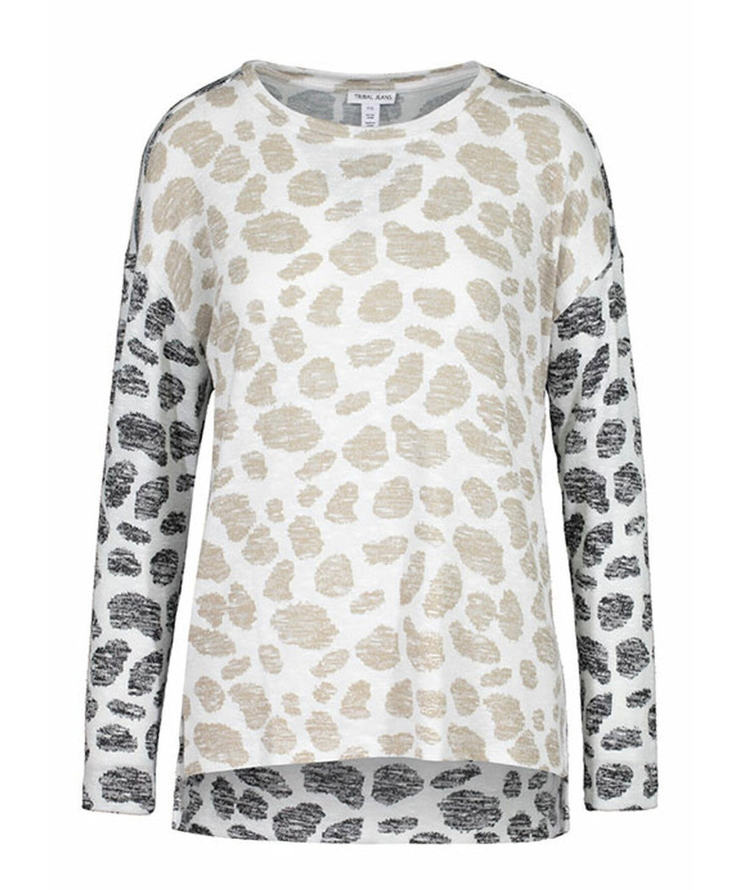 Tribal - Long Sleeve Light Weight Brown & Cashew Animal Print
