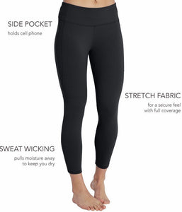 Athletic Capri Black Leggings - Charlie's Project