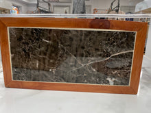 Load image into Gallery viewer, Handmade Cedar Hot Plate or Table Display- Marbled Natural Stone