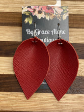 Load image into Gallery viewer, BGA Gems - Red Saffiano Leather - Leafs