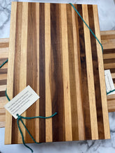 Load image into Gallery viewer, Handmade Cutting Board - Light Hickory & Black Walnut