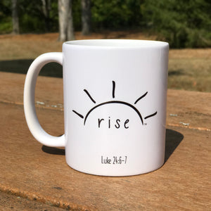 Rise (Luke 24:6-7) Coffee Mug