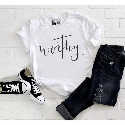 Worthy - White Crew Neck