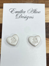 Load image into Gallery viewer, Emilia Alice Designs - Clay Earrings -Pearl Shimmer Studs -OR NAH