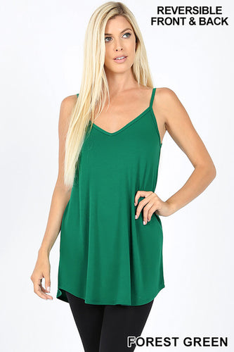 V-Neck or Scoop Reversible Cami- Forest