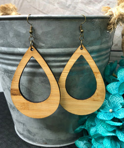 Large Tear Drop Cut Out - Bamboo