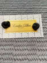 Load image into Gallery viewer, Emilia Alice Designs - Clay Stud Earrings -Black Knot