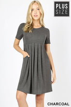 Load image into Gallery viewer, Charcoal Pleated Dress